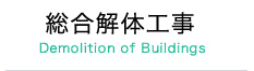 総合解体工事 Demolition of Buildings